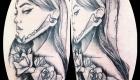 Eliza Báthory Sketchwork Tattoo Frau Rosen