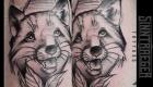 Eliza Báthory Sketchwork Tattoo Fuchs