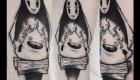 Eliza Báthory Sketchwork Tattoo Ohngesicht Calcifer