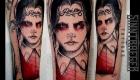 Eliza Báthory Sketchwork Tattoo Wednesday Adams black red