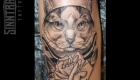 Marc Guthe Neotraditional Tattoo Katze Matrose