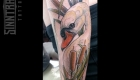 Marc Guthe Neotraditional Tattoo Schwan